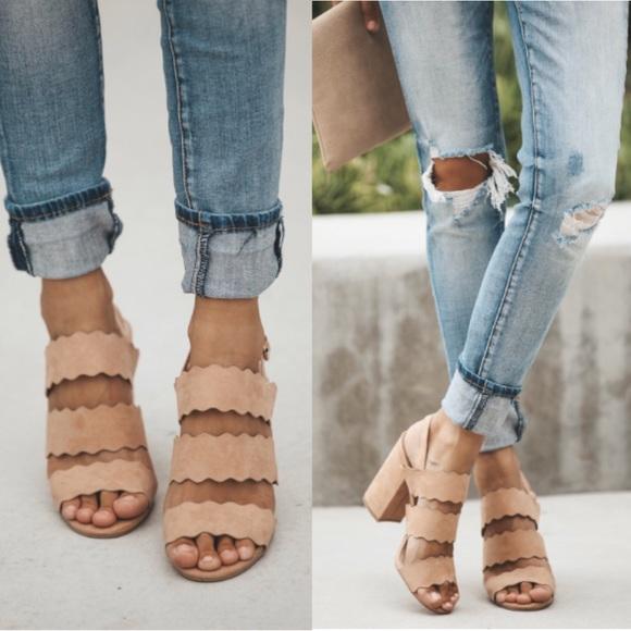 b45945fe641 Avalon scalloped heel Boutique